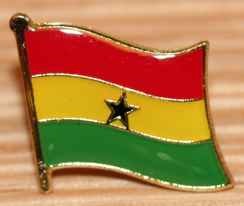 Central African Republic world flag lapel pin, country
