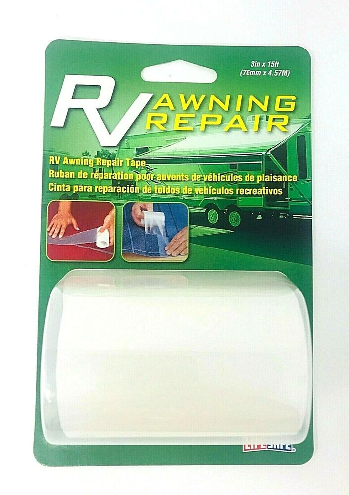 Rv Camper Trailer Awning Adhesive Repair Tape Clear 3