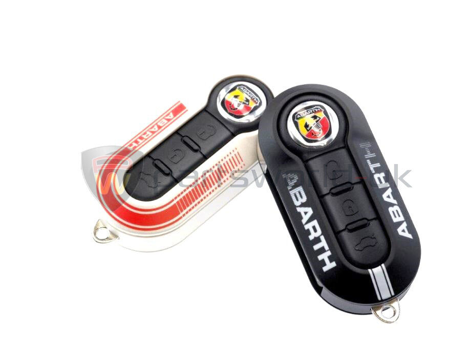 pair genuine fiat abarth 500 grande punto evo key covers. Black Bedroom Furniture Sets. Home Design Ideas