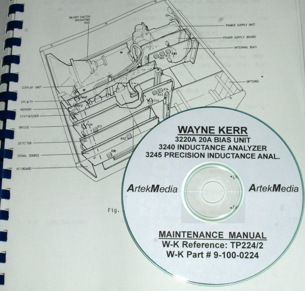 Wayne Kerr 3245 Service manual
