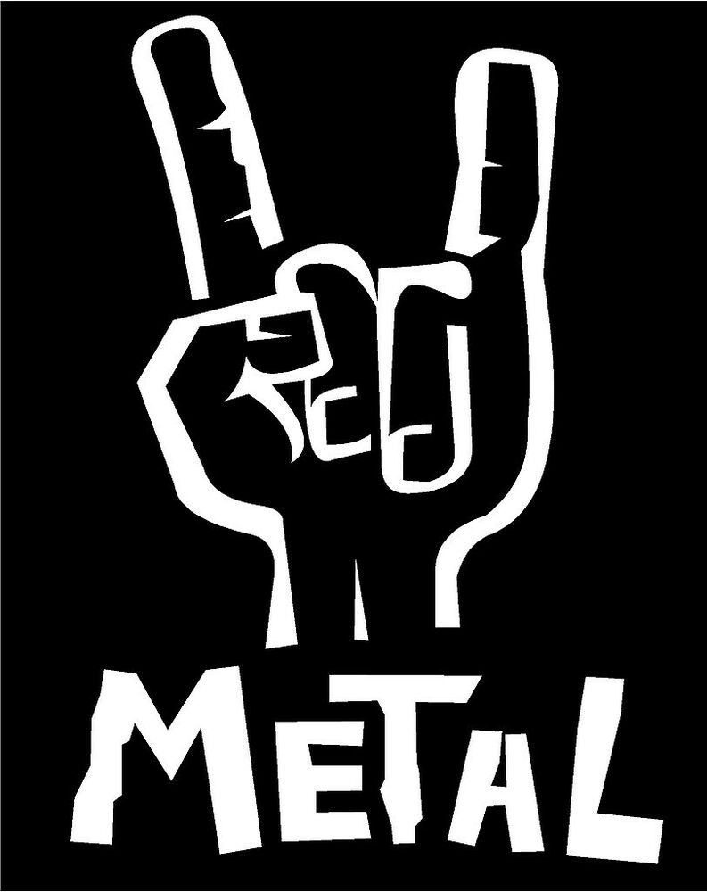 Heavy metal hand decal sign of the horns car truck window for De signs