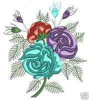 French Flower Machine Embroidery Designs 4x4 CD