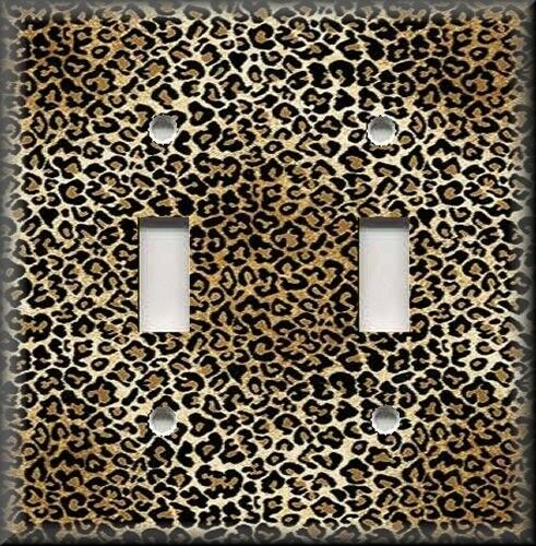 Light Switch Plate Cover Animal Print Decor Leopard