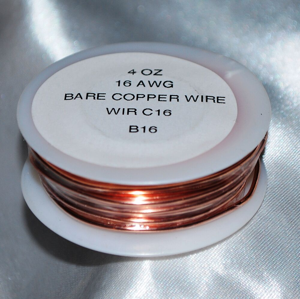 4 oz roll (31.5 feet) 16 Gauge thick Solid BARE COPPER Wire | eBay