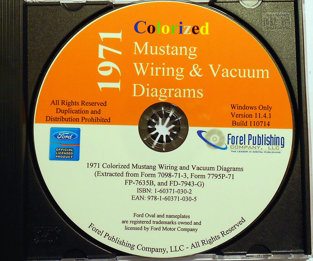 1971 Colorized Mustang Wiring Diagrams  Cd