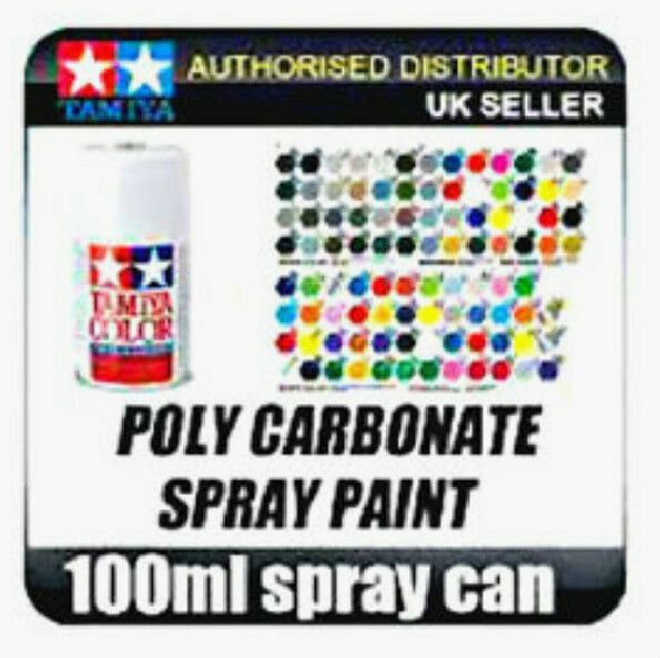 polycarbonate spray paint 100ml ps 1 to ps 54 rc car build ebay. Black Bedroom Furniture Sets. Home Design Ideas