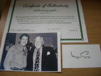 Merv Griffin Genuine Original Hand Signed Autograph & Picture