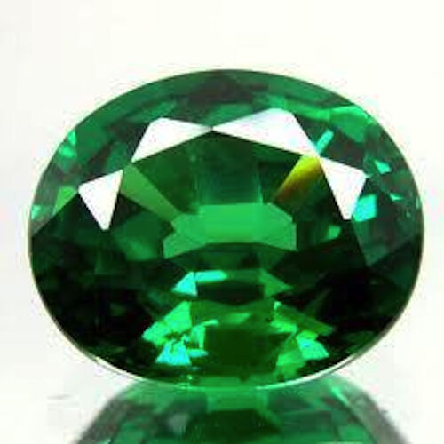 Aaa Rated Oval Faceted Bright Emerald Green Cubic Zirconia