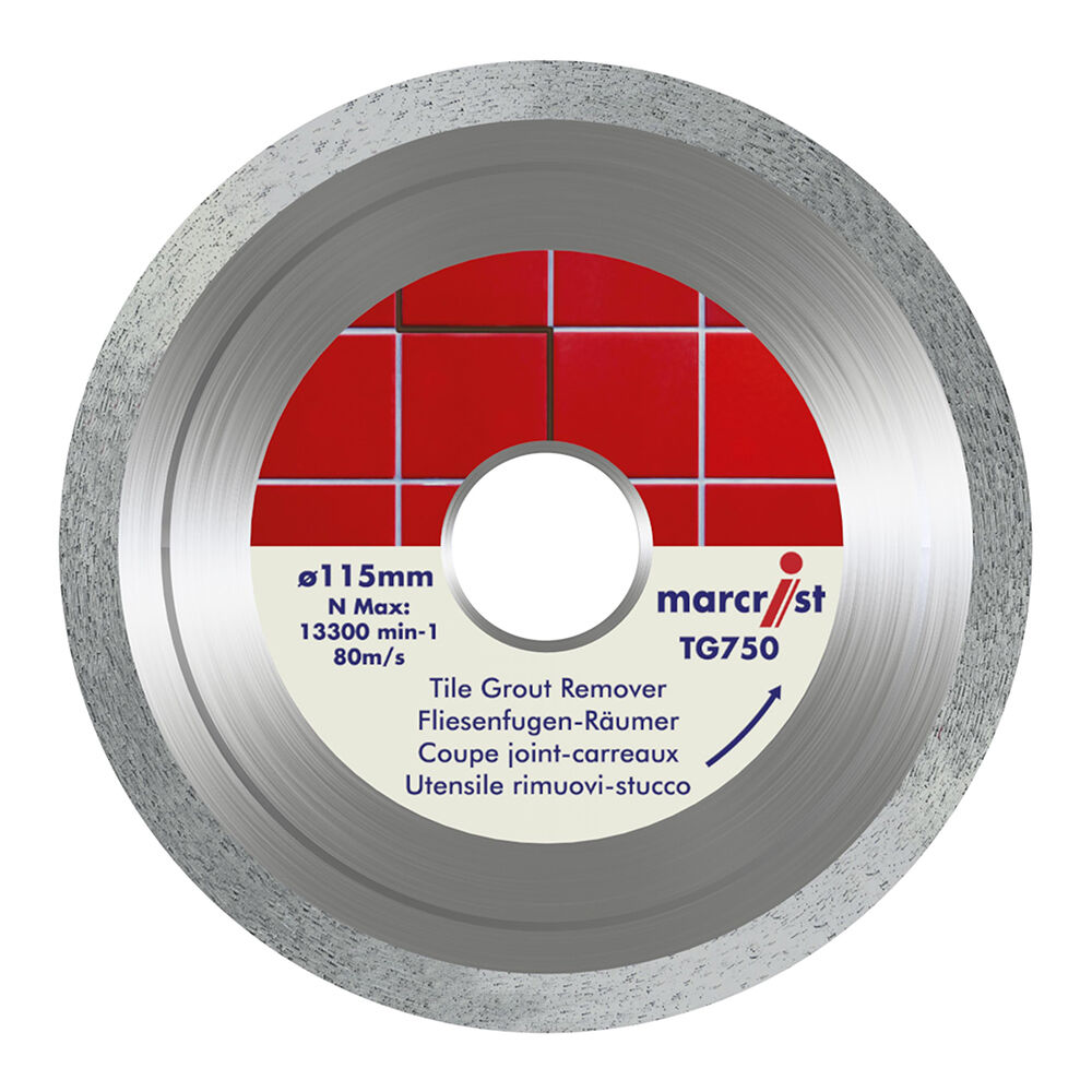 Marcrist TG750 Tile Grout Remover Removing Blade 115mm