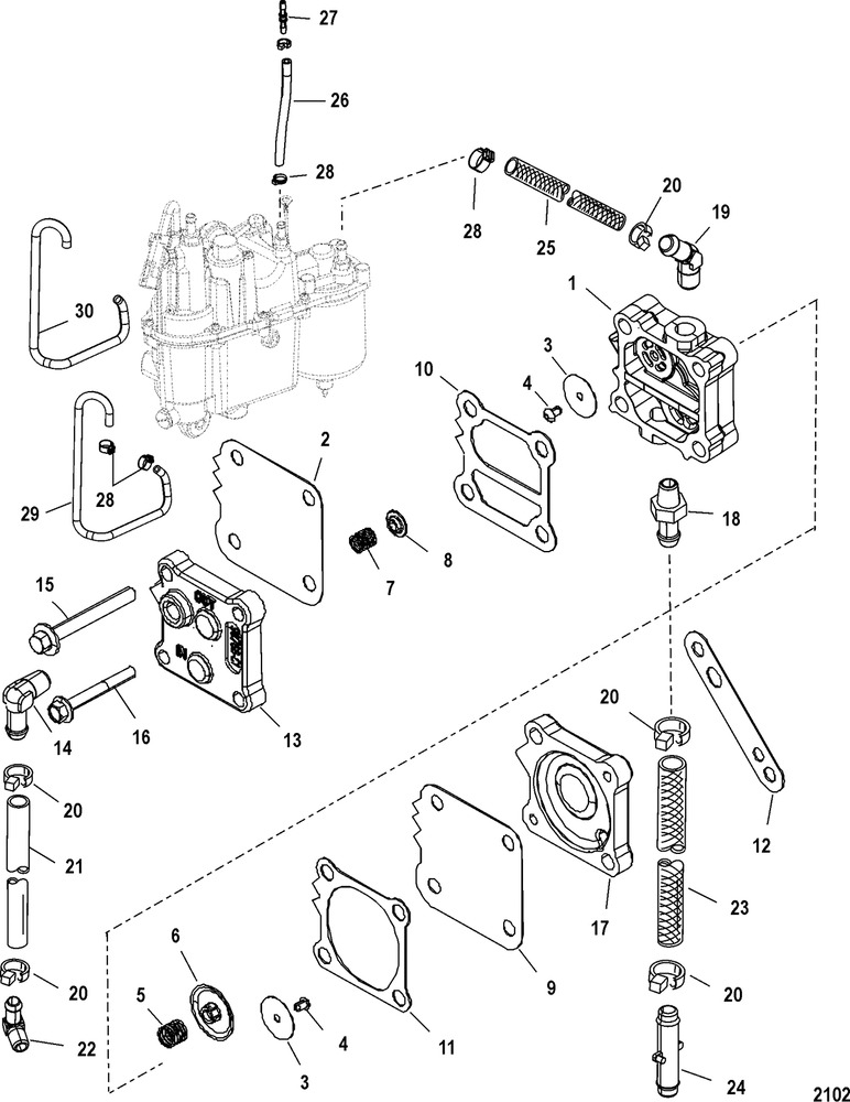Mercury Optimax Fuel System Diagram