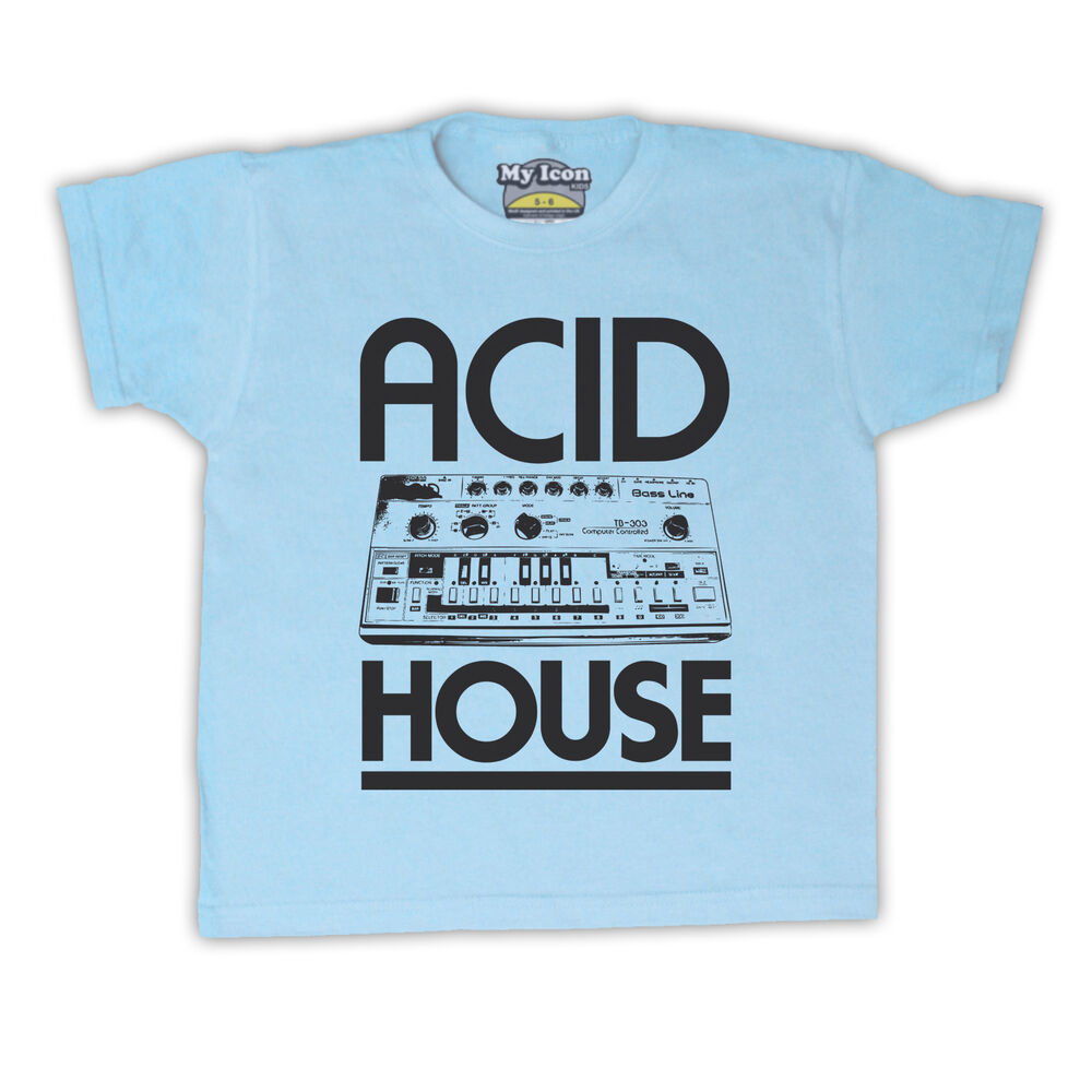 Acid house bass synth dance rave music retro kids t shirt for Acid house soundtrack
