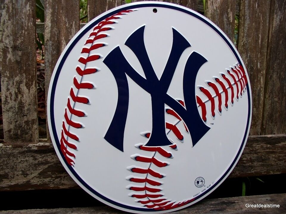 Yankees Man Cave Decor : Ny yankees new york home wall decor metal quot man cave