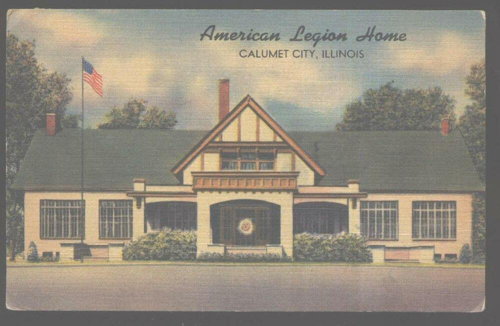 Postcard Calumet City Illinois Il American Legion Post 330 1930 39 S Ebay
