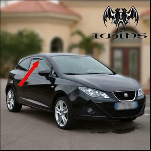 deflettori antiturbo oscurati seat ibiza 6j anche sc fr. Black Bedroom Furniture Sets. Home Design Ideas
