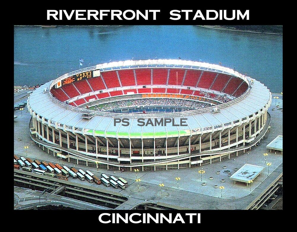 Cincinnati Riverfront Stadium Travel Souvenir Fridge