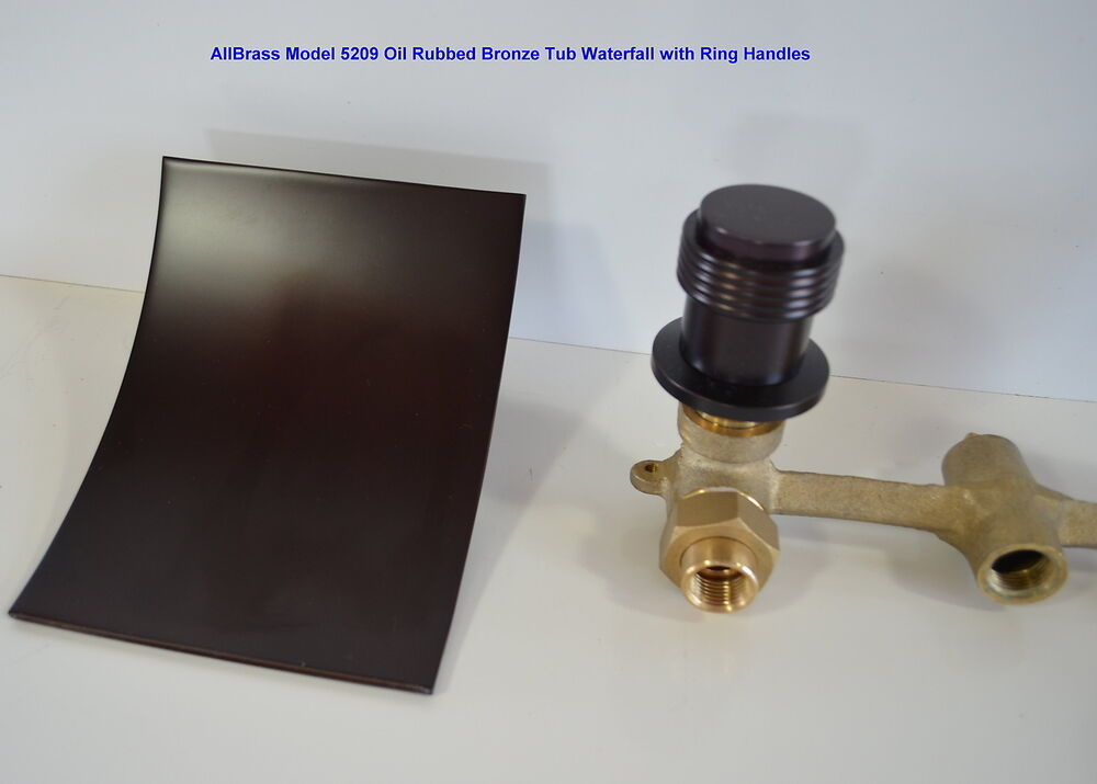 Oil Rubbed Bronze Wall Mount Tub Waterfall Faucet Orb Bathtub Sink Free Shipping Ebay