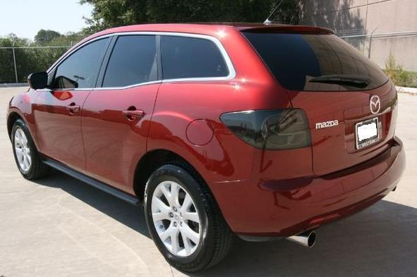 07 12 Mazda Cx7 Smoke Tail Light Precut Tint Cover Smoked Overlays