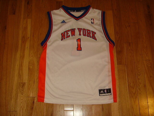 ADIDAS AMARE STOUDEMIRE WHITE NEW YORK KNICKS NBA YOUTH REPLICA JERSEY LRG  14-16  324f3ad64