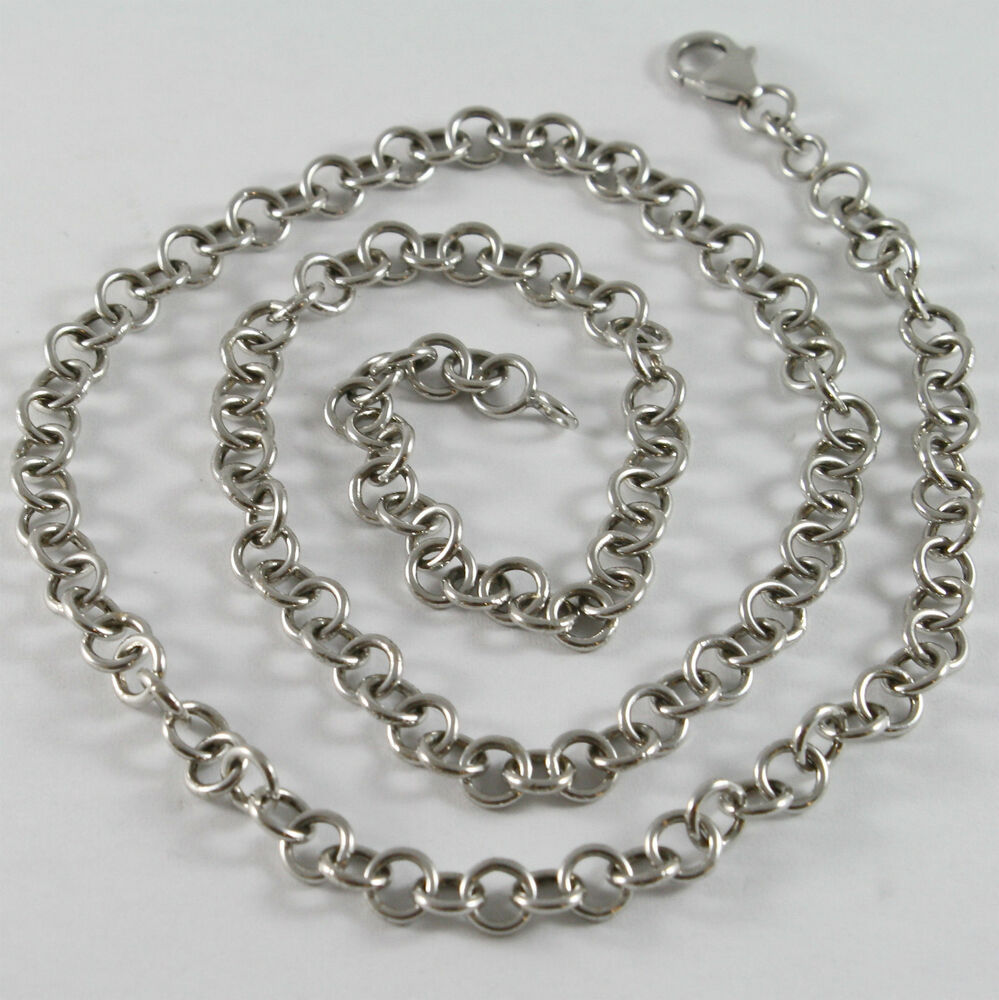 solid 18k white gold chain necklace with round mesh. Black Bedroom Furniture Sets. Home Design Ideas