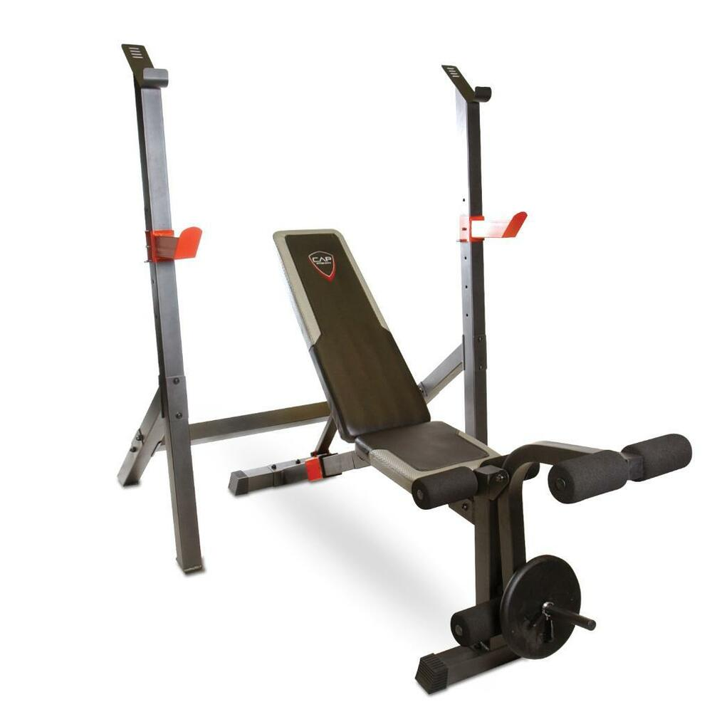 Cap Barbell Olympic Weight Bench With Squat Rack New Fm