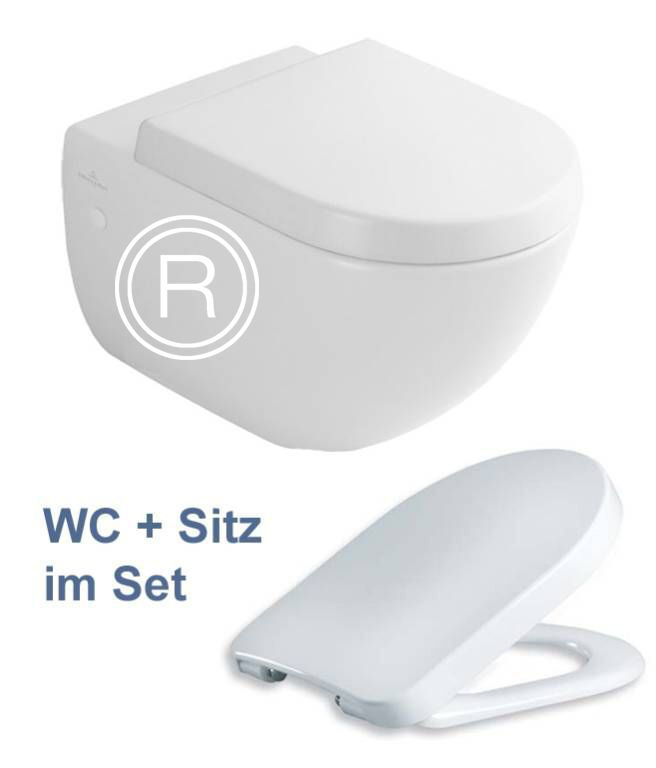 villeroy boch subway wand wc ceramicplus 660010r1 wc sitz tube ebay. Black Bedroom Furniture Sets. Home Design Ideas
