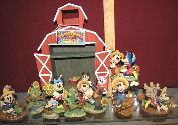 10 Piece Disney Mickey Amp Minnie Mouse Farm Figurine Set Ebay