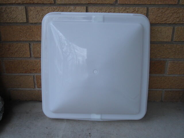Rv Camper Trailer Roof Vent Lid Cover 14x14 New White