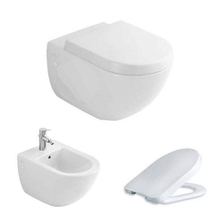 villeroy boch subway wand wc sitz bidet im set ebay. Black Bedroom Furniture Sets. Home Design Ideas