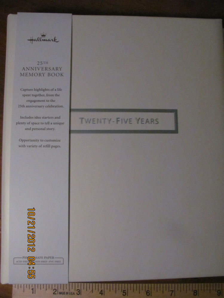 Hallmark th anniversary memory book designed pages