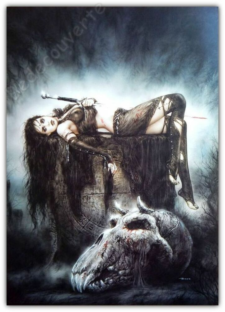 affiche poster royo luis erotique orc cimetiery 50x70 ebay. Black Bedroom Furniture Sets. Home Design Ideas