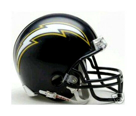 San Diego Chargers 1988 2006 Navy Blue Riddell Throwback