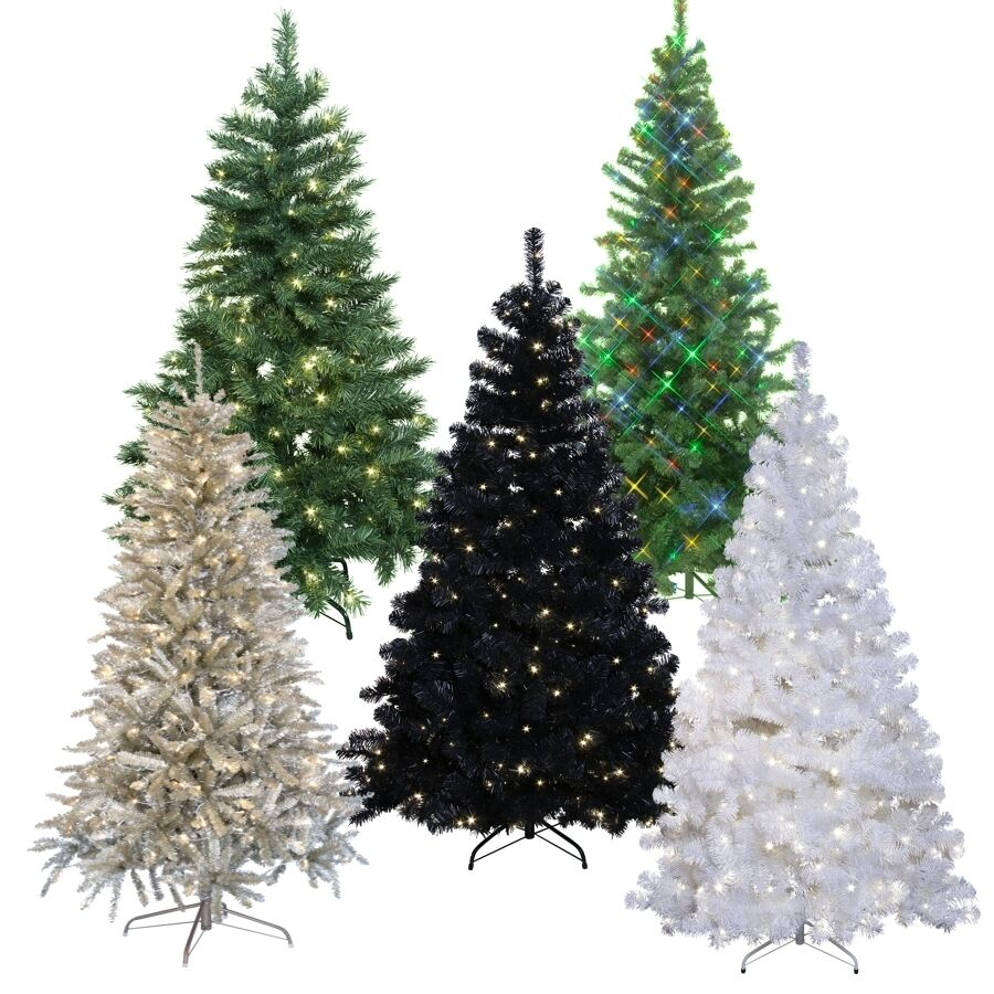 led weihnachtsbaum f r innen und au en k nstlicher christbaum led beleuchtet ebay. Black Bedroom Furniture Sets. Home Design Ideas