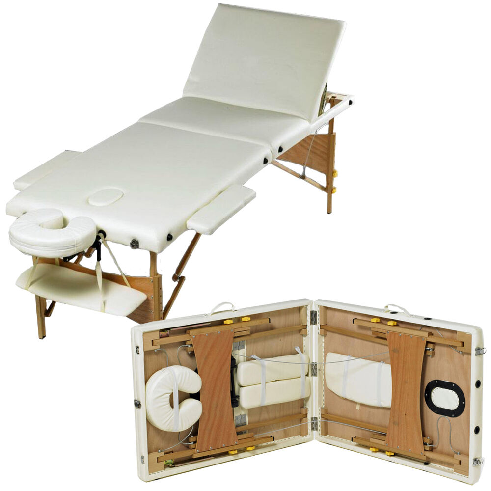 3 section foldable table beauty adjustable portable for Table bed chair