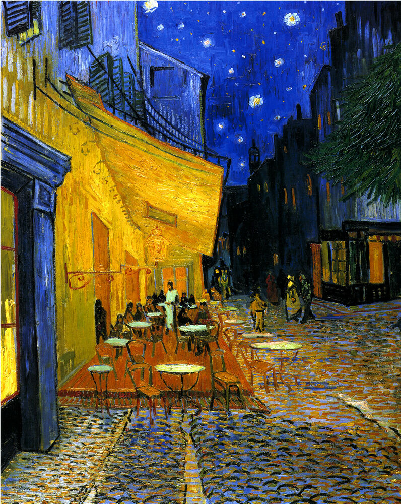 Vincent van gogh cafe terrace starry night stars for Terrace night