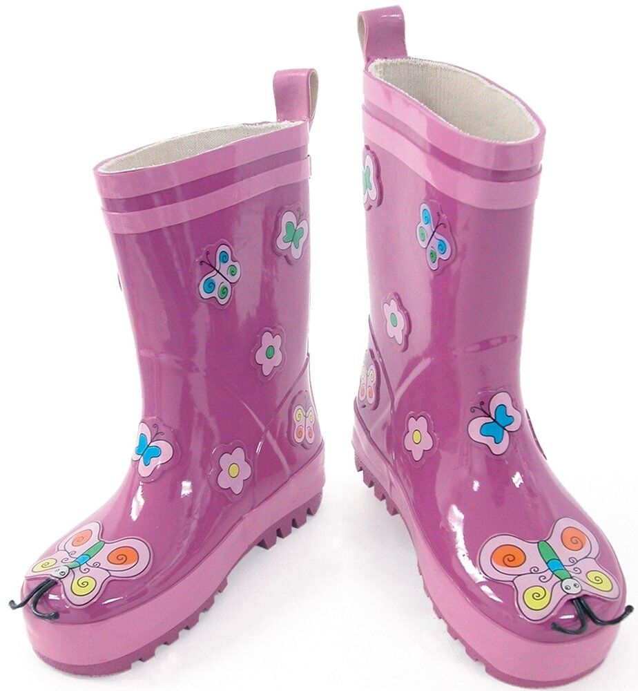 Kidorable Childrens Butterfly Wellies Wellington Rubber ...