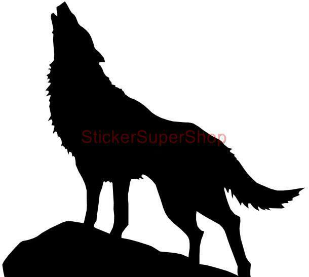 Choose Size Wolf Silhouette Decal Removable Wall Sticker