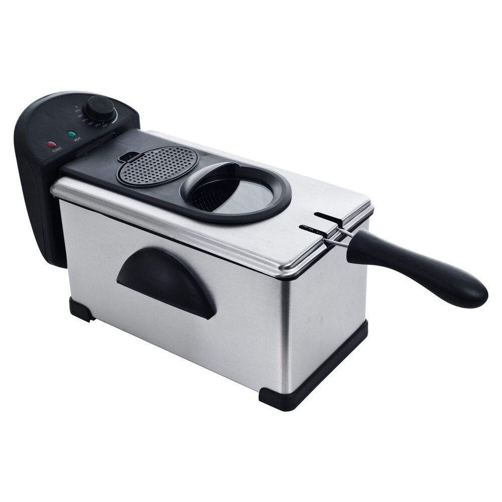 Electric Deep Fryer : Chef buddy electric deep fryer stainless steel