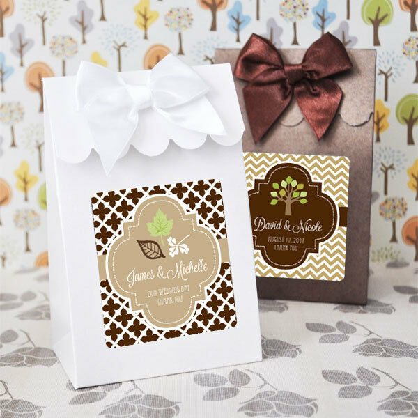 144 Personalized Autumn Wedding Candy Boxes Bags Favors Ebay