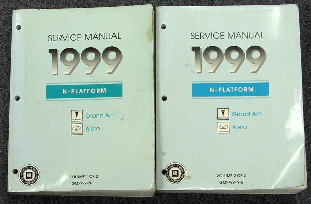 1999 Pontiac Grand Am Oldsmobile Alero Service Manual Set border=