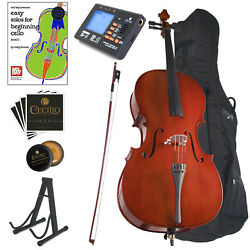 Kyпить CECILIO FULL SIZE 4/4 ACOUSTIC CELLO STUDENT w/ TUNER, LESSON BOOK 4/4CCO-100 на еВаy.соm