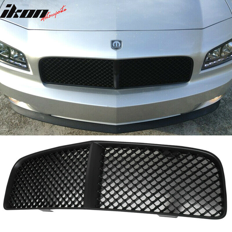 05 10 dodge charger black mesh hood grill grille abs ebay. Black Bedroom Furniture Sets. Home Design Ideas
