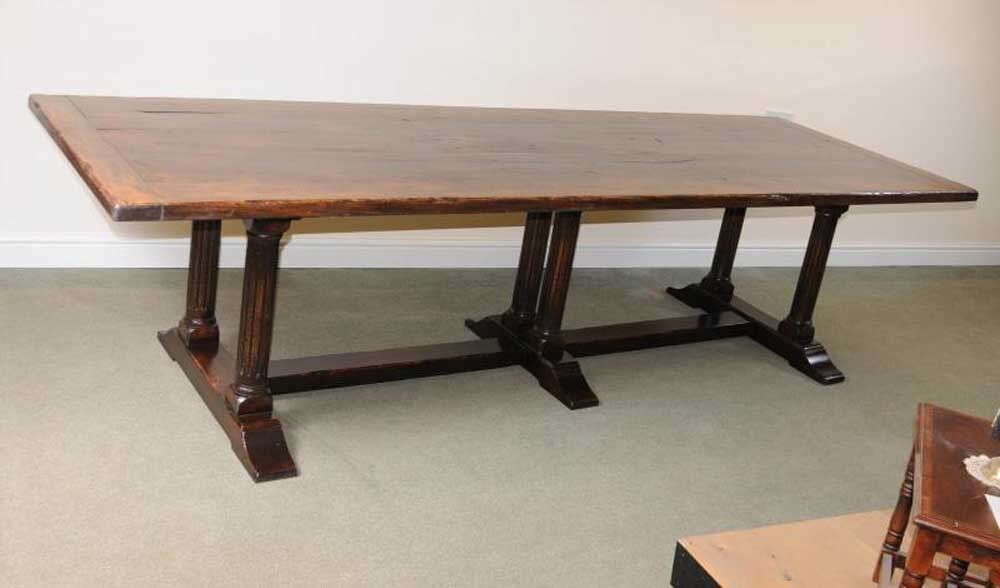 Large Italian Refectory Table Beach Wood Farmhouse Kitchen  : s l1000 from www.ebay.co.uk size 1000 x 588 jpeg 37kB