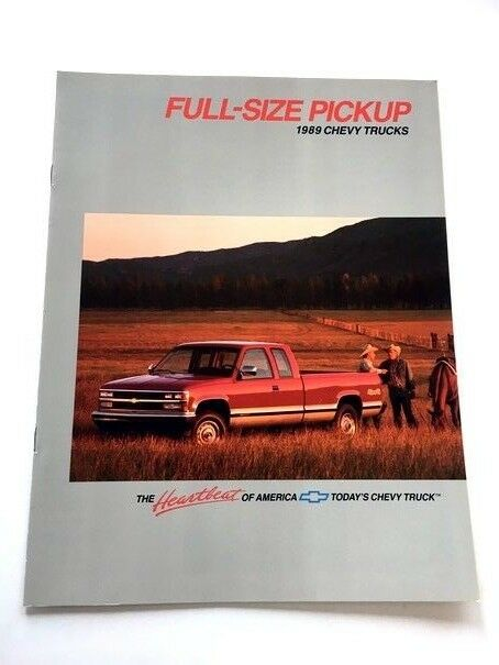 1989 Chevrolet Chevy Truck 12 Page Sales Brochure Catalog