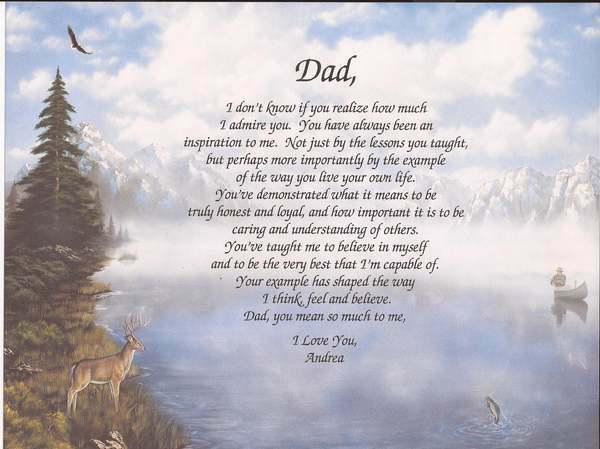 Personalized Poem For Dad Choose Design Birthday Father's