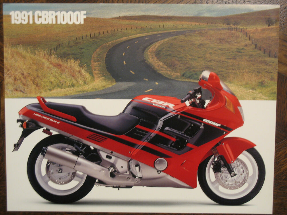 1991 honda cbr1000f nos oem dealer 39 s sales brochure cbr1000 1000f cbr 1000 f 91 ebay. Black Bedroom Furniture Sets. Home Design Ideas