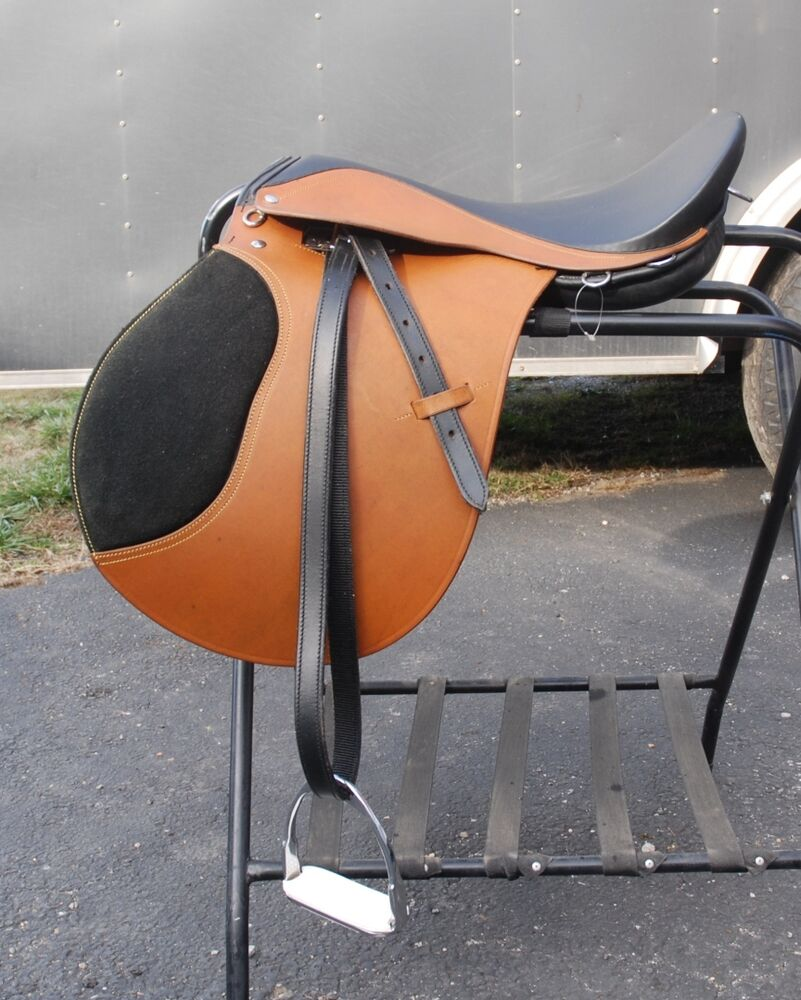 London Tan Leather 18 Quot Small Draft Horse Wide Tree English