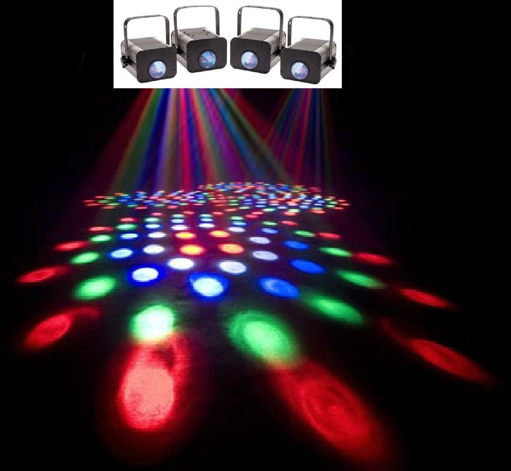 see video super led electro 4 pack dj lighting package eliminator lights ebay. Black Bedroom Furniture Sets. Home Design Ideas