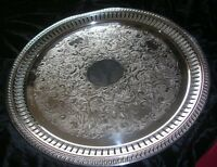 """Vintage/Antique 14 1/2"""" EPC Silver Silverplate Tray/Platter 5-334"""
