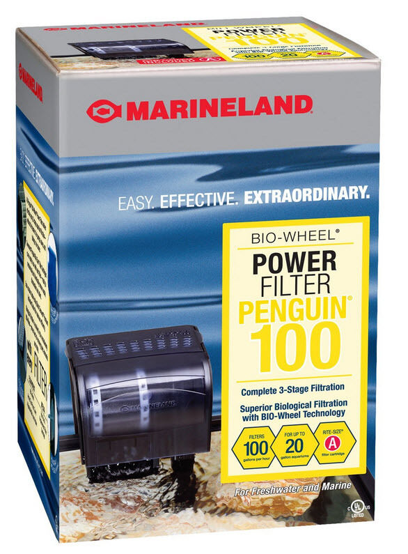 Marineland Penguin 100 Power Filter for Up to 20 Gallon ...