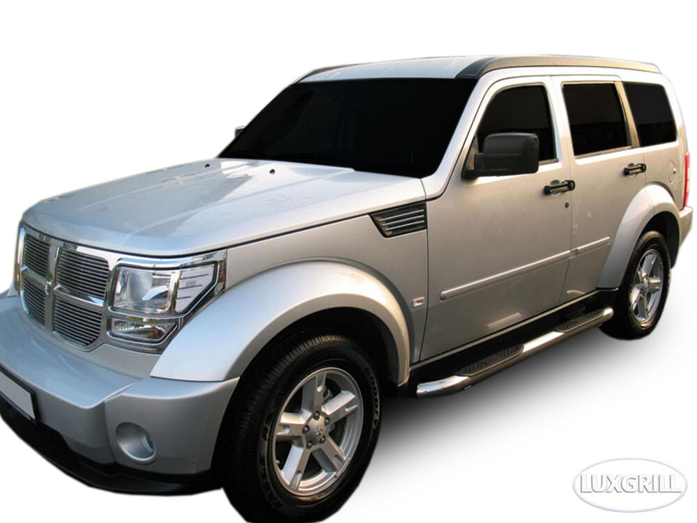 sb322 dodge nitro 2007 2012 trittbretter schwellerrohre 76mm v2a ebay. Black Bedroom Furniture Sets. Home Design Ideas